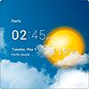 Скачать Прозрачные часы и погода на андроид бесплатно