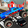 Monster Truck Racing - полицейский город Чейз