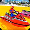Superheroes Jet Ski Stunts: Top Speed Racing Games