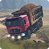 Truck Driver Operation Sand Transporter