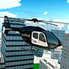 Police Helicopter City Flying