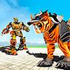Футуристический робот-робот-тигр