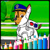 Coloring Paw Patrol Dog