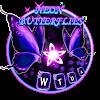 Скачать Мерцающая неоновая бабочка на андроид