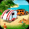 Кемпинг Caravan Truck Driving Simulator: пляжные