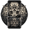 Black Rose Skull Keyboard