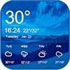 Blue sky forecast widget theme&clock