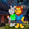 Lion And Rhinoceros Embracing Best Escape Game-383