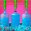 Завод минеральной воды: бутылки с чистой водой