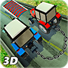 Chained Cars Driving : Tractor Farming Simulator