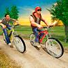 Всадник велогонки BMX