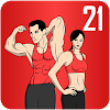 Скачать Как похудеть за 21 день - Фитнес дома на андроид бесплатно