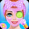 Симпатичные девушки макияж салон : лицо макияж спа