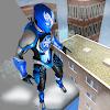 супергероя морозный человек спасение города