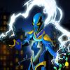 электрический супергероя энергия толчков город 3D
