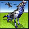 вертолет робот превращать футуристическ робот волк