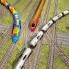 Индийский поезд, проезжающий по железной дороге