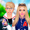 Скачать Влюбленные старшеклассники: одень девушку и парня на андроид бесплатно
