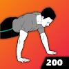 Скачать 200 Отжиманий с нуля - тренировки для дома на андроид бесплатно