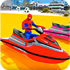 Скачать Superheroes Jet Ski Stunts: Top Speed Racing Games на андроид